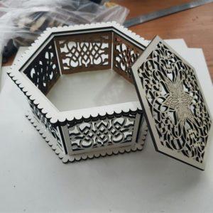 Шкатулка ажурная шестигранная