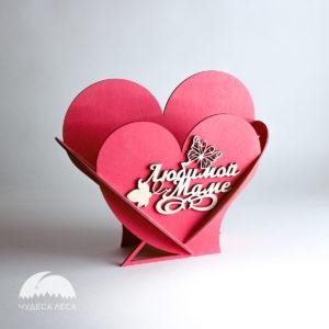 Корзинки из дерева Сердца